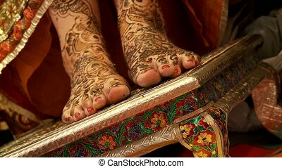 Indian Wedding - Henna On Feet