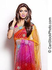 indian woman - beautiful woman wearing indian traditional ...
