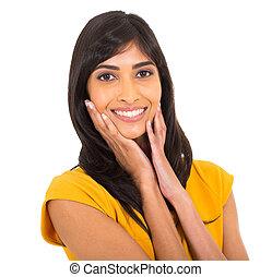 indian woman closeup