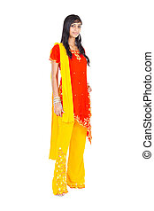 indian woman full length portrait