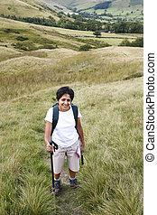 Indian woman hiking