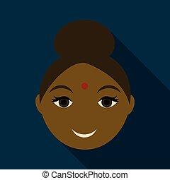 Indian woman icon. Simple illustration of indian woman vector icon for web