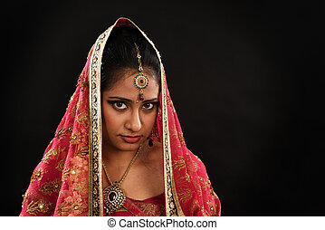 Indian woman in traditional sari