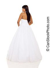 indian woman in wedding dress