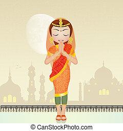 Indian woman prayer