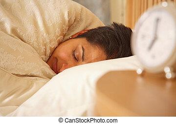 Indian woman sleeping