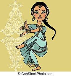Indian woman. vector illustration