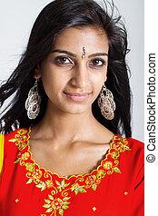 indian woman wearing sari