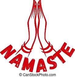 Indian womans hand greeting posture of namaste
