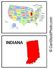 indiana, estado, estados unidos de américa