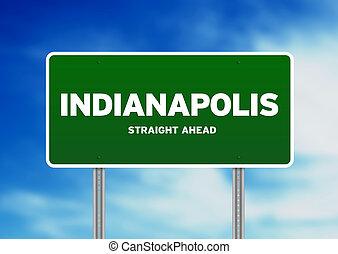 indiana, indianapolis, señal de autopista