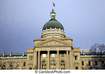 indiana, indianapolis, -, staatliches kapitol