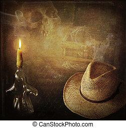 Indiana Jones adventure - Grunge background Indiana Jones...