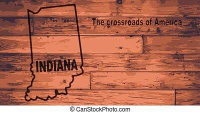 Indiana Map Brand