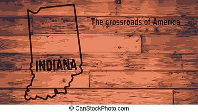Indiana Map Brand