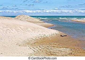 Indiana Sand Dunes on Lake Michigan's Shoreline