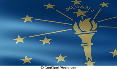Indiana State Flag Waving