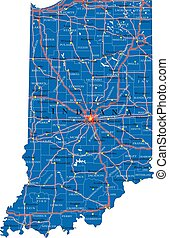 Indiana state political map