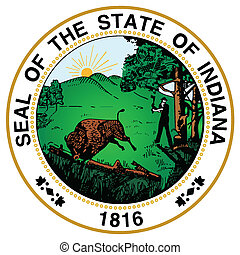 Indiana State Seal - The great seal of the state of Indiana