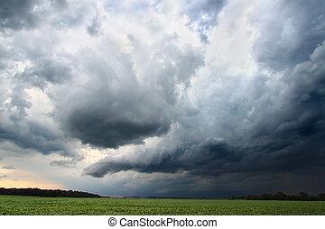 Indiana Thunderstorm Landscape