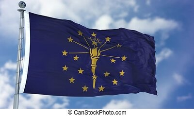Indiana Waving Flag - Indiana (U.S. state) flag waving...