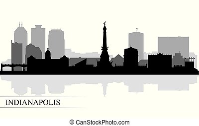 Indianapolis city skyline silhouette background