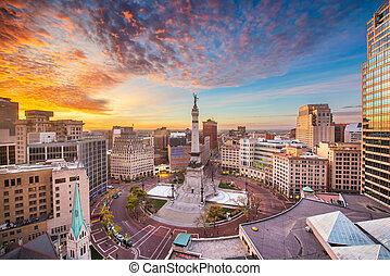 Indianapolis, Indiana, USA Skyline - Indianapolis, Indiana,...