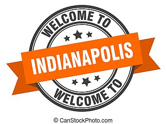 INDIANAPOLIS - Indianapolis stamp. welcome to Indianapolis ...
