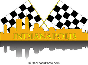 Indianapolis race - City of Indianapolis high rise buildings...