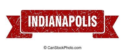 Indianapolis ribbon. Red Indianapolis grunge band sign