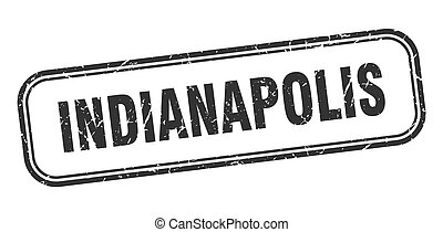 Indianapolis stamp. Indianapolis black grunge isolated sign