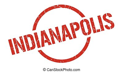 Indianapolis stamp. Indianapolis grunge round isolated sign