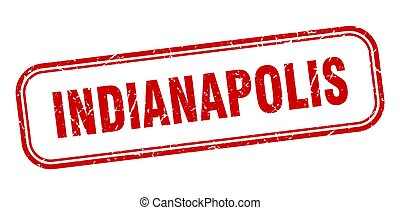 Indianapolis stamp. Indianapolis red grunge isolated sign