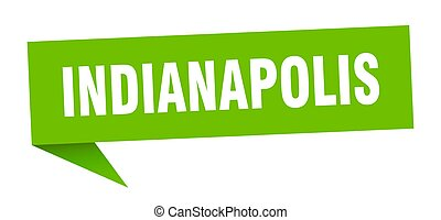 Indianapolis sticker. Green Indianapolis signpost pointer ...