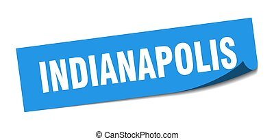 Indianapolis sticker. Indianapolis blue square peeler sign