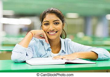indianas, estudante universitário, biblioteca