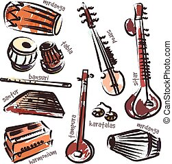 indianas, instrumentos