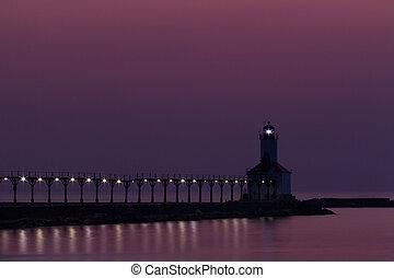 Michigan City East Pierhead Light