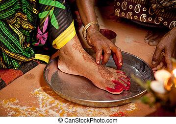 indianas, noiva, casamento, rituais