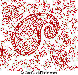 indianas, padrão, têxtil
