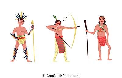 indianer, abbildung, hintergrund., traditionelle , vektor, ...
