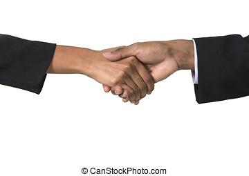 indianin, kupiec i biznesmenka potrząsające ręki