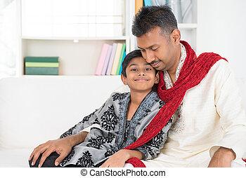 indianin, ojciec, syn