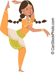 indiano, ballerino, bollywood, tradizionale, festa, culture.