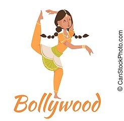indiano, bollywood, ballare coppie