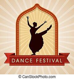 indiano, classico, ballerino