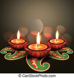 indiano, festival, diwali