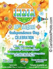 indiano, giorno, indipendenza, celebrazione