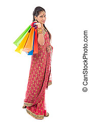 indiano, shopping, persone