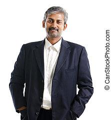 indiano, uomo affari